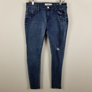 VGS Vigoss Roll Up Skinny Distressed Jeans 6
